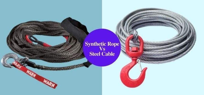 synthetic rope vs steel cable